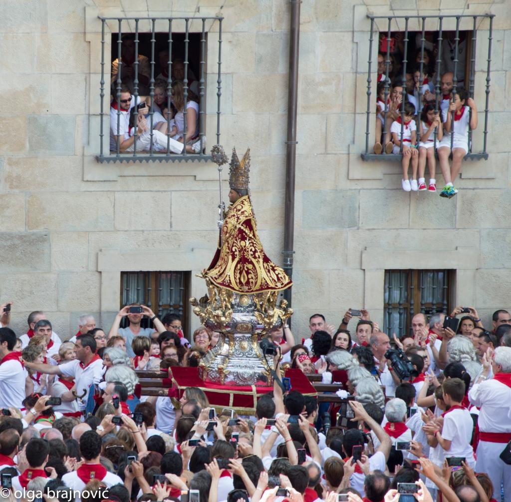San Fermin Image in his procession