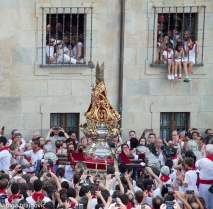 San Fermin Image in his procession