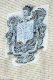 detail of an old façade