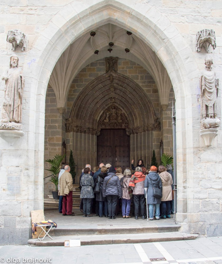 main door of the church of St. Cernin